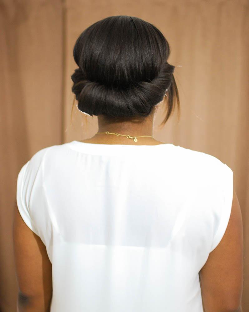 Quick and Easy Chignon - Lace & Pearls