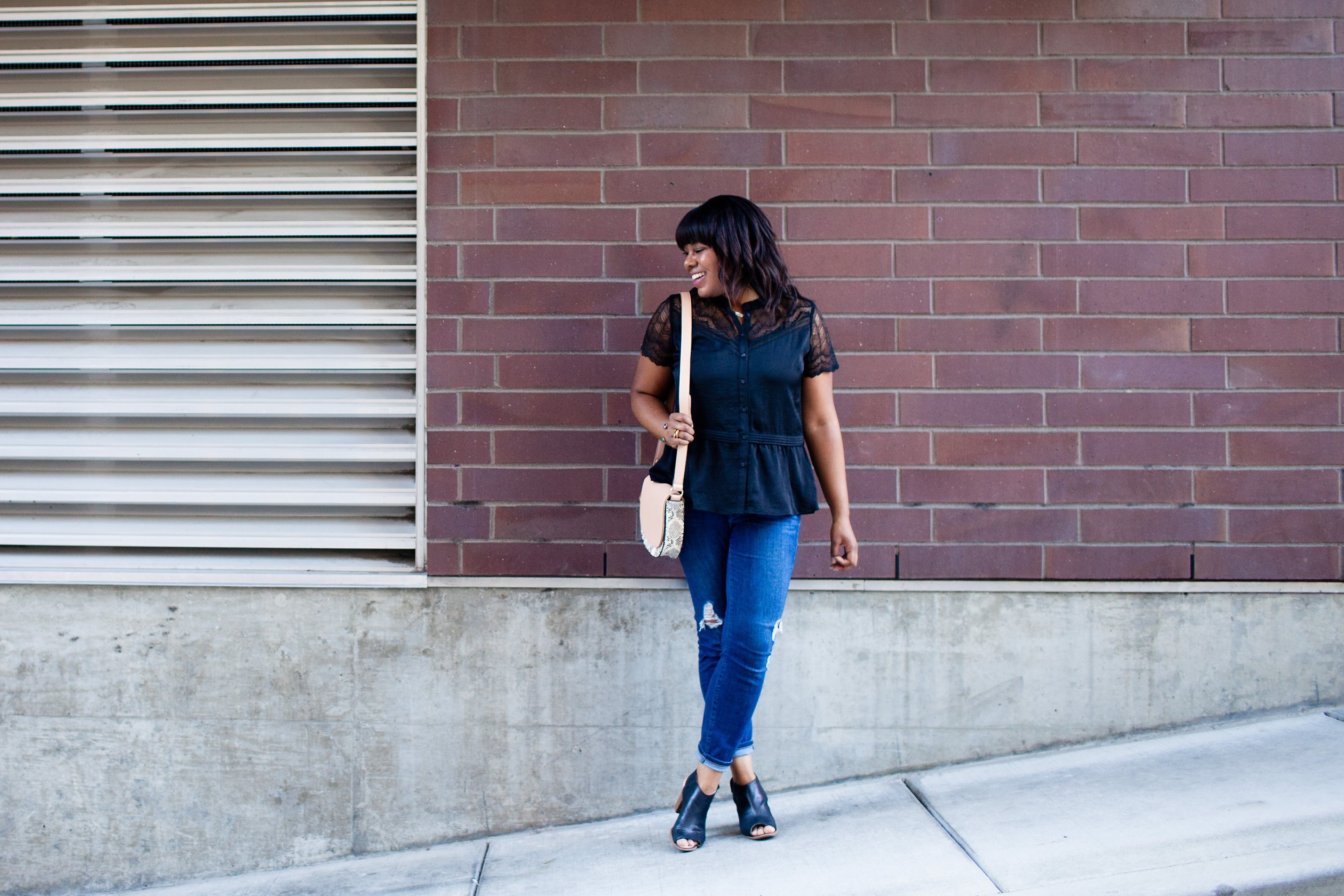 Lace is a material that I will never grow tired of. It's beautifully timeless and looks great with jeans. My favorite lace combo? Understated like the top in today's post. It's subtle but romantic.