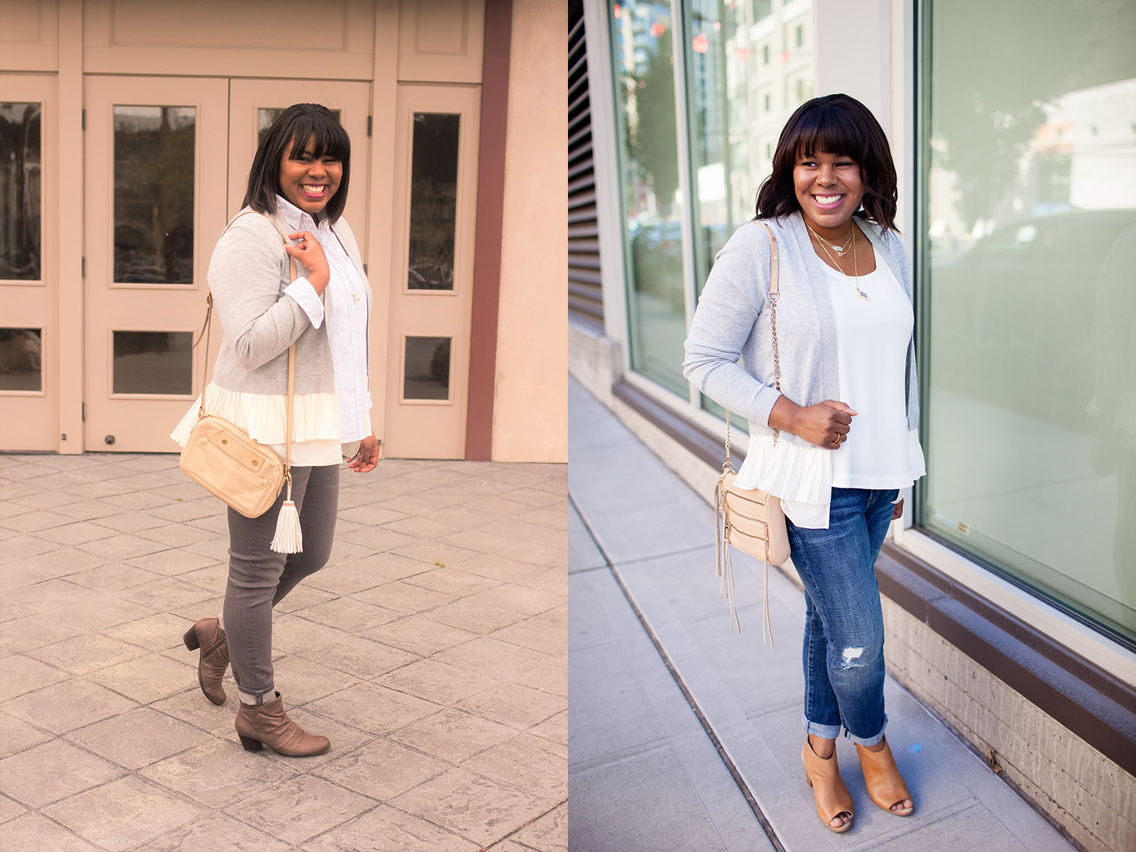 I used to be obsessed with the cardigan! I seriously had one in every material, weight, and color. One day I decided I was over them and I paired down my collection to just the essentials.I made a conscious effort not to buy another with the caveat that I only could if I needed it to complete an outfit.